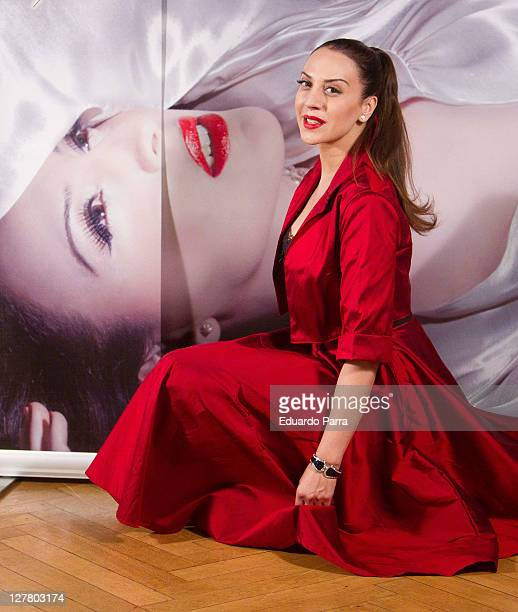 Singer Monica Naranjo attends new 'Madame Nor' tour photocall at Santo Mauro Hotel on May 13 2011 in Madrid Spain