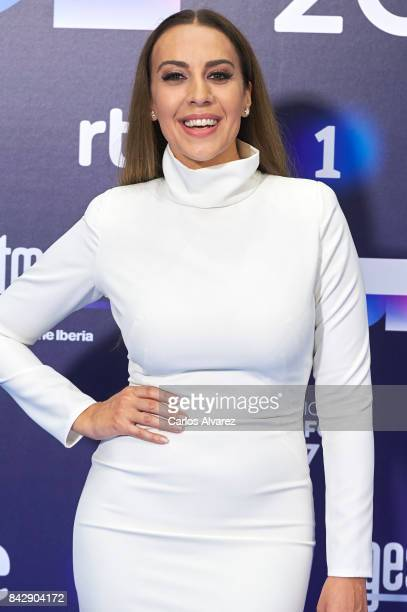 Singer Monica Naranjo attends 'Operacion Triunfo' photocall at the Palacio de Congresos during the FesTVal 2017 on September 5 2017 in VitoriaGasteiz...