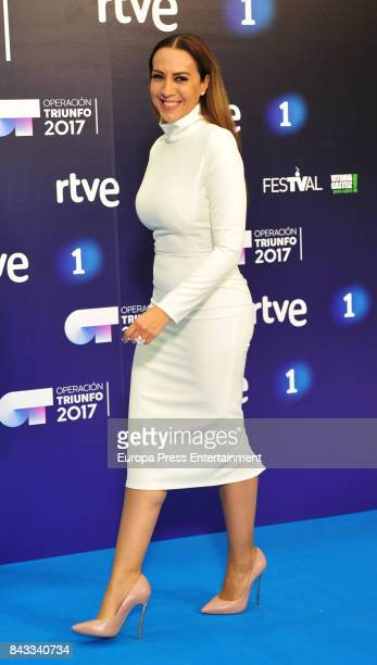 Singer Monica Naranjo attends 'Operacion Triunfo' photocall during the FesTVal 2017 on September 5 2017 in VitoriaGasteiz Spain