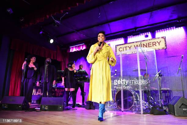 Singer Monica performs onstage during Majic 1075 After Dark at City Winery on March 18 2019 in Atlanta Georgia