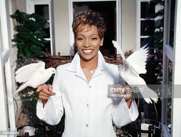 Singer MONICA poses for a portrait in 1998 in Los Angeles California