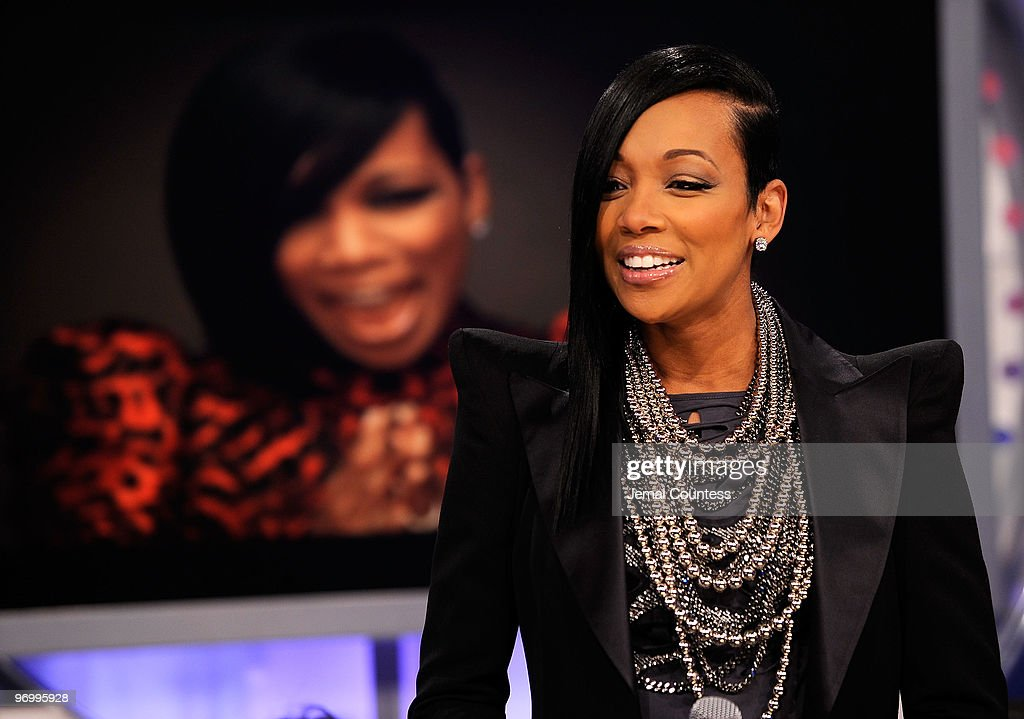 """Tracy Morgan and Monica Visit BET's """"106 & Park"""" : News Photo"""