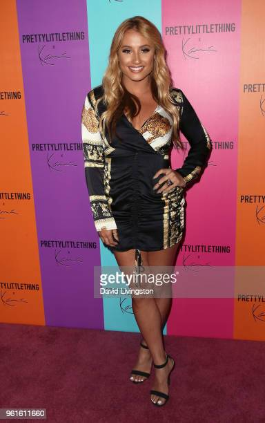 Singer Montana Tucker attends the PrettyLittleThing x Karl Kani event at Nightingale Plaza on May 22 2018 in Los Angeles California