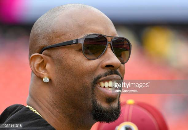 Singer Montell Jordan walks on to the field on October 14 at FedEx Field in Landover MD The Washington Redskins defeated the Carolina Panthers 2317