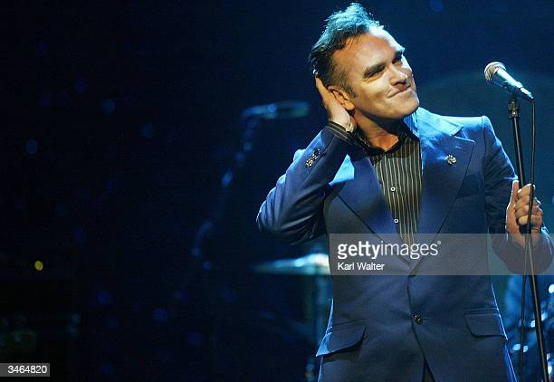 Singer Morrissey performs April 23 2004 at the Wiltern LG in Los Angeles California The former Smiths frontman sold out five consecutive nights in...