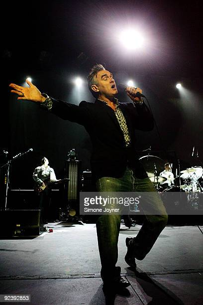 Singer Morrissey performs live on stage at Royal Albert Hall on October 27 2009 in London England The former Smiths frontman returned to the stage...