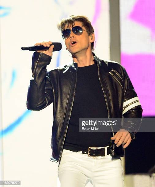 Singer Morten Harket of Aha performs onstage during the 2013 Billboard Music Awards at the MGM Grand Garden Arena on May 19 2013 in Las Vegas Nevada