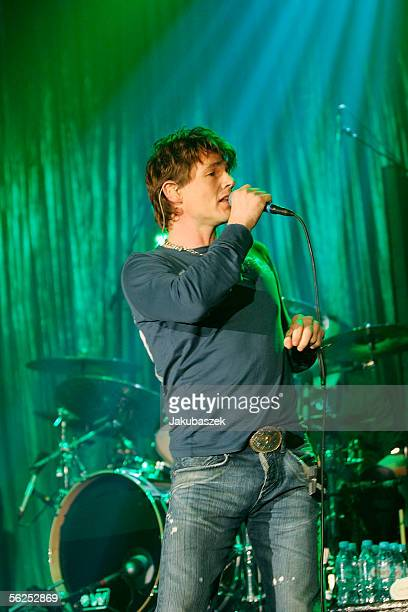 Singer Morten Harket of the Norwegian pop band aha performs live during a concert in the Arena on November 20 2005 in Berlin Germany The concert was...