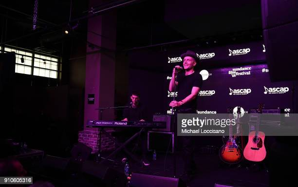 Singer Mr Hudson performs for the CMA Songwriters Series during the 2018 Sundance Film Festival at the Sundance ASCAP Music Cafe on January 25 2018...