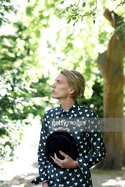 Singer musician and actor Jamie Campbell Bower is photographed for Marie Claire magazine on June 4 2013 in London England