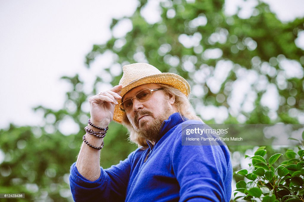 Singer, musician and co-founder of the Bee Jees, Barry Gibb is photographed for Paris Match on June 29, 2016 in London, England.