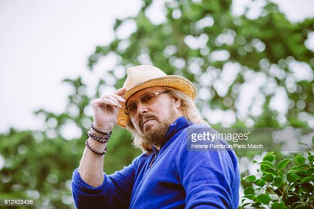 Singer musician and cofounder of the Bee Jees Barry Gibb is photographed for Paris Match on June 29 2016 in London England