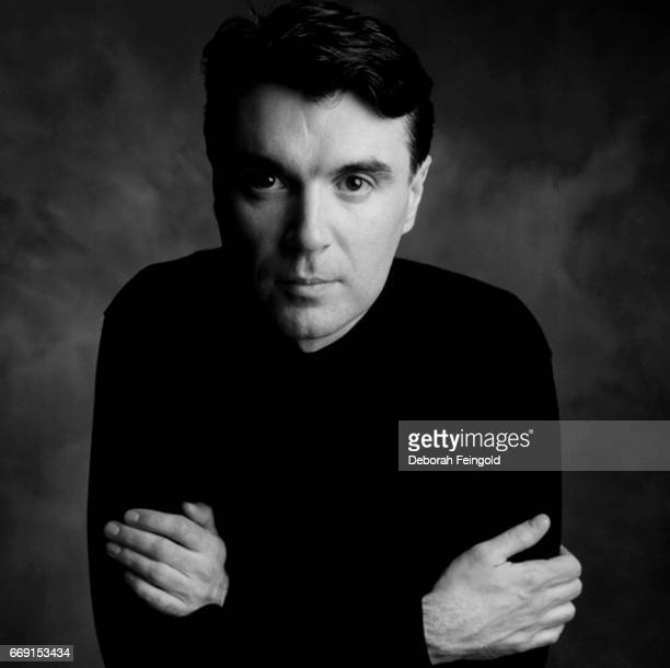 Singer musician and guitarist David Byrne poses for a portrait in 1984 in New York City New York