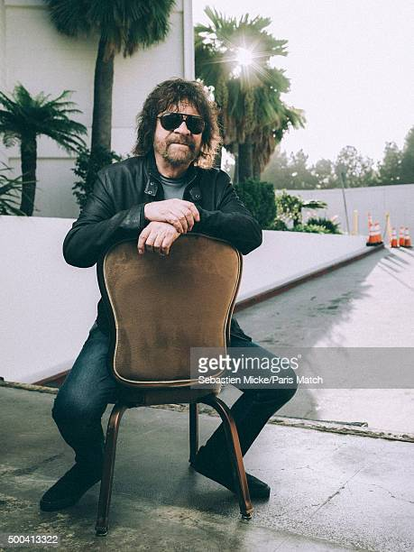 Singer, musician and leader of the group Electric Light Orchestra Jeff Lynne is photographed for Paris Match on October 22, 2015 in Los Angeles,...