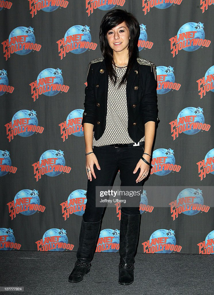 Christina Grimmie Visits Planet Hollywood - June 14, 2011