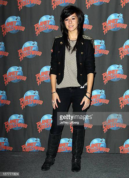 Singer / Musician Christina Grimmie visits Planet Hollywood Times Square on June 14, 2011 in New York City.