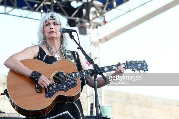 Singer / Musician Emmylou Harris performs during the 2011 Newport Folk Festival at Fort Adams State Park on July 31 2011 in Newport Rhode Island