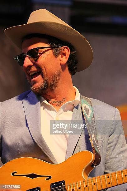 Singer / Musician Eric Lindell performs at the New Orleans Jazz Heritage Festival at Fair Grounds Race Course on April 30 2015 in New Orleans...