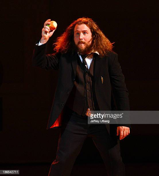 Singer / Musician Jim James of My Morning Jacket performs during the Preservation Hall Jazz Band 50th anniversary at Carnegie Hall on January 7 2012...