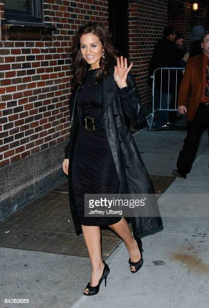 Singer / Musician Kara DioGuardi visits 'Late Show with David Letterman' at the Ed Sullivan Theater on January 12 2009 in New York City