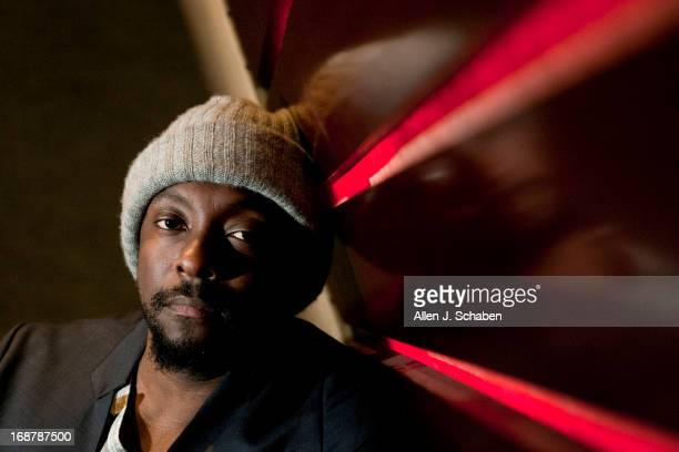 Singer musician member of the Black Eyed Peas and producer william is photographed for Los Angeles Times on April 24 2013 in West Hollywood...