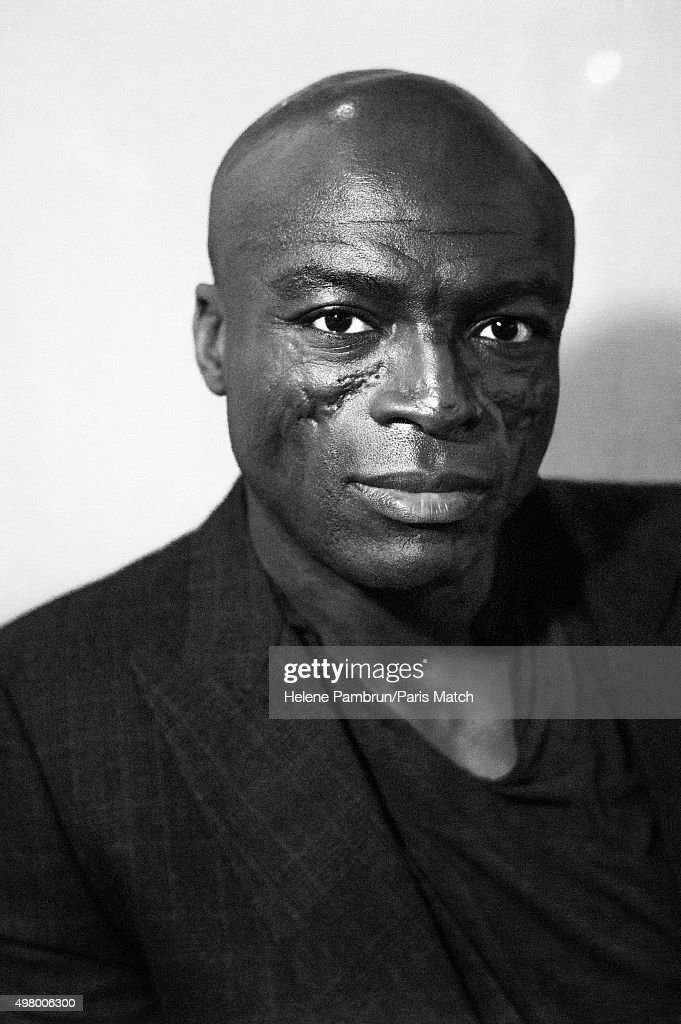 Singer & musician Seal is photographed for Paris Match on November 29, 2015 in Paris, France.
