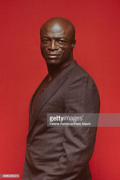 Singer musician Seal is photographed for Paris Match on November 29 2015 in Paris France
