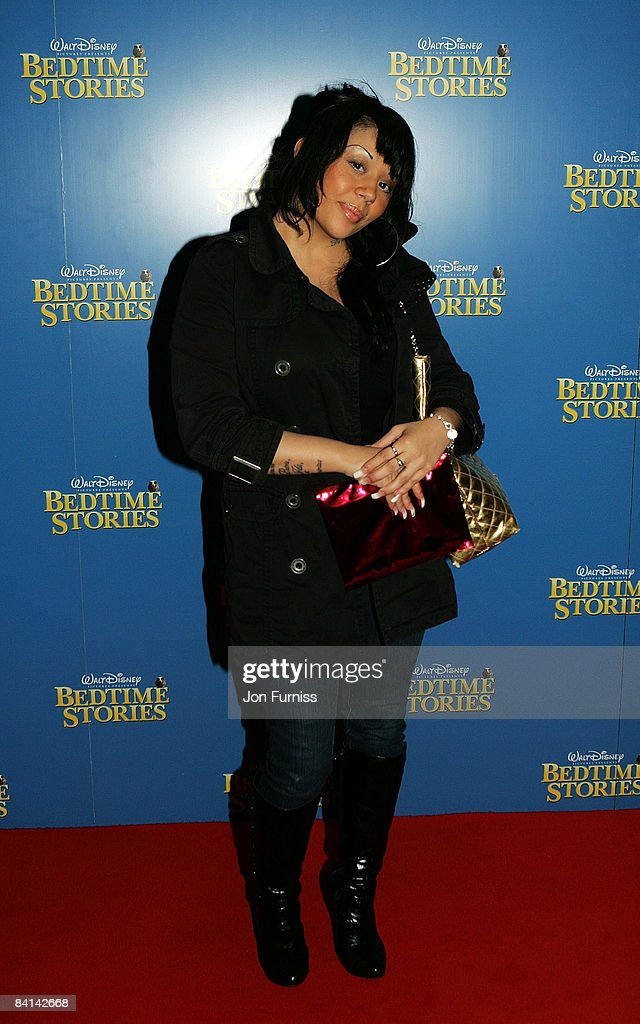 Singer Mutya Buena arrives at the UK film premiere of 'Bedtime Stories' held at the Odeon Kensington on December 11, 2008 in London, England.