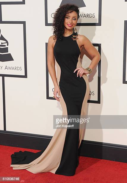 Singer Mya arrives at The 58th GRAMMY Awards at Staples Center on February 15 2016 in Los Angeles California