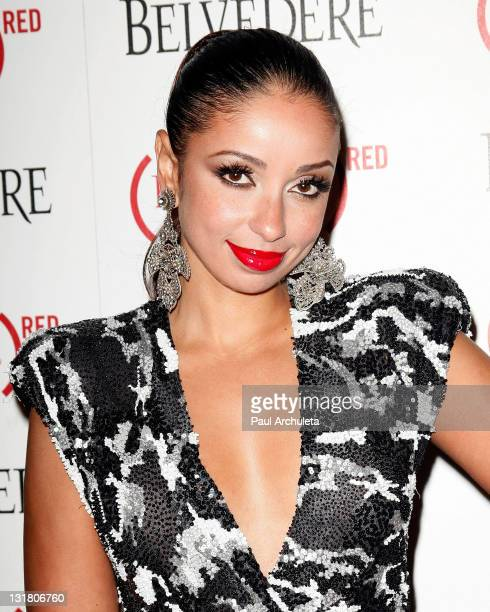 Singer Mya arrives at the Belvedere RED special edition bottle benefit launch party at Avalon on February 10 2011 in Hollywood California