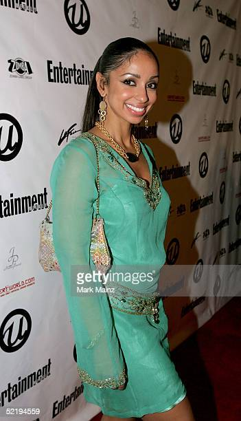 Singer Mya arrives at Usher's Private Grammy Party hosted by Entertainment Weekly at Geisha House on February 13 2005 in Hollywood California