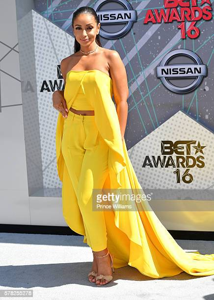 Singer Mya attends the 2016 BET awards at Microsoft Theater on June 26, 2016 in Los Angeles, California.
