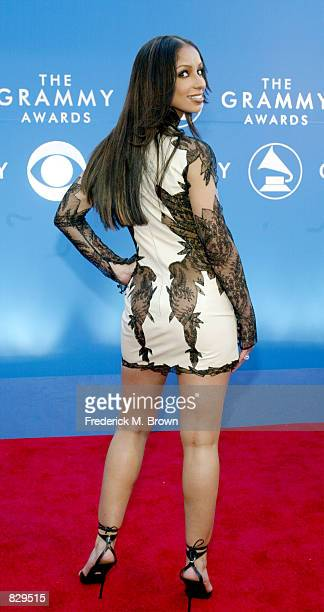 Singer Mya attends the 44th Annual Grammy Awards at Staples Center February 27 2002 in Los Angeles CA