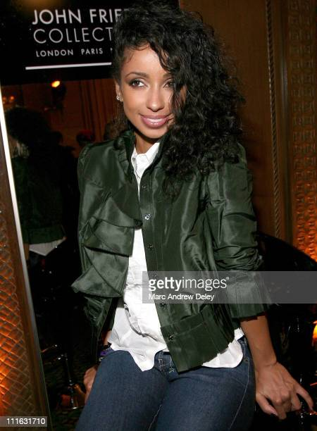 Singer Mya attends the Rag Bone Spring 2008 during MercedesBenz Fashion Week at Cipriani 42nd Street on September 5 2007 in New York City