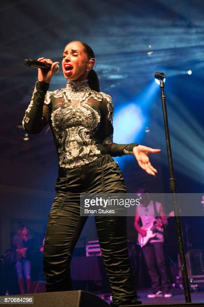 Singer Mya performs at WPGC's 18th Annual For Sisters Only at Walter E Washington Convention Center on November 4 2017 in Washington DC