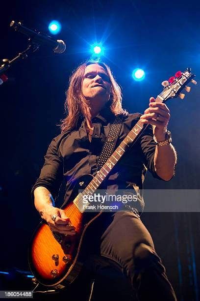 Singer Myles Kennedy of Alter Bridge performs live during a concert at the Huxleys on October 27 2013 in Berlin Germany
