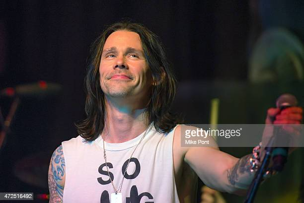 Singer Myles Kennedy performs during Slash featuring Myles Kennedy and The Conspirators in Concert at Terminal 5 on May 7 2015 in New York City