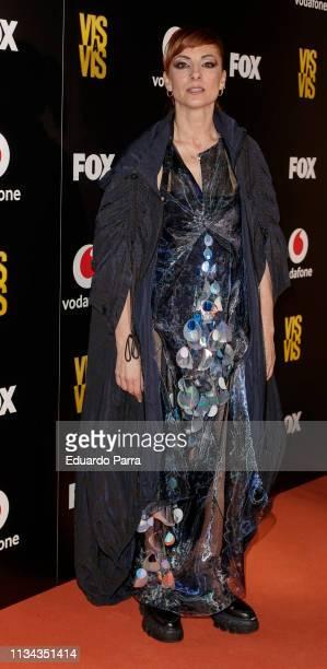 Singer Najwa Nimri attends Najwa Nimri And Mala Rodriguez Concert at Barceo Theatre on March 07 2019 in Madrid Spain