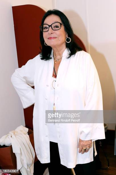 Singer Nana Mouskouri , 79 years old, will start a new world tour in november of 2013, attends 'Vivement Dimanche' French TV Show at Pavillon Gabriel...