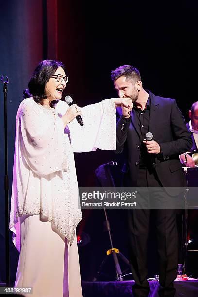 Singer Nana Mouskouri and Greek singer Polydoros Vogiatzis perform at Nana Mouskouri's Happy Birthday Tour Held at 'Theatre du Chatelet' on March 10...