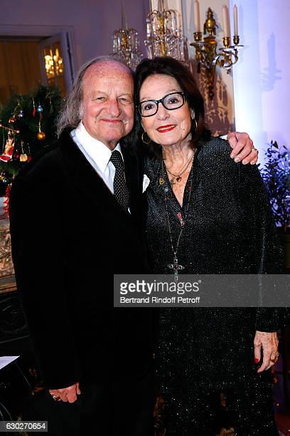 Singer Nana Mouskouri and her husband Andre Chapelle attend Nana Mouskouri gives the Greek Prize 'Nikos Gatsos 2016' to Charles Aznavour at Embassy...