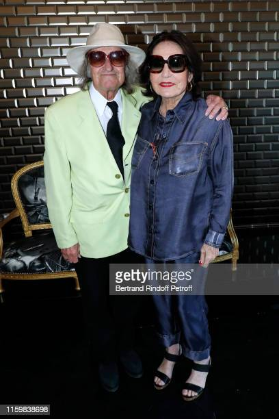 Singer Nana Mouskouri and her husband Andre Chapelle attend the Jean Paul Gaultier Haute Couture Fall/Winter 2019 2020 show as part of Paris Fashion...