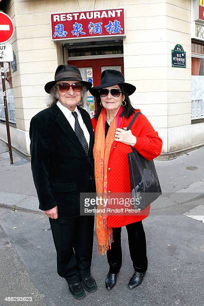 Singer Nana Mouskouri and her husband Andre Chapelle have lunch in a Chinese Restaurant whyle Nana Mouskouri's Happy Birthday Tour on March 10 2014...