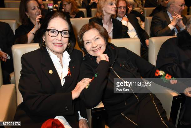 Singer Nana Mouskouri and Macha Meryl attend the Tribute to JeanClaude Brialy at Centre National du Cinema et de l'Image Animee on November 20 2017...