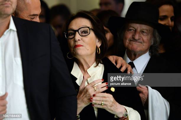 Singer Nana Mouskouri arrives for the premiere of new show The One at the FriedrichstadtPalast in Berlin Germany 6 October 2016 PHOTO MAURIZIO...