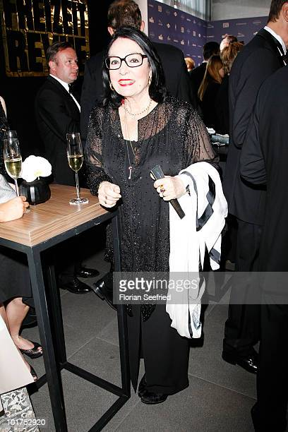 Singer Nana Mouskouri attends An Evening For Africa at the Burda Medien Park on June 7 2010 in Offenburg Germany