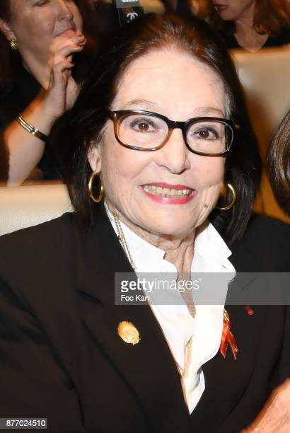 Singer Nana Mouskouri attends the Tribute to JeanClaude Brialy at Centre National du Cinema et de l'Image Animee on November 20 2017 in Paris France