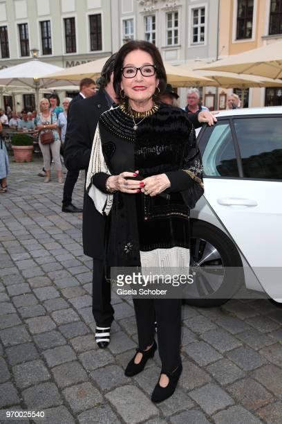 Singer Nana Mouskouri during the European Culture Awards TAURUS 2018 at Dresden Frauenkirche on June 8 2018 in Dresden Germany