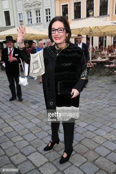 Singer Nana Mouskouri during the European Culture Awards TAURUS 2018 at Dresden Frauenkirche on June 8 2018 in Dresden Germany