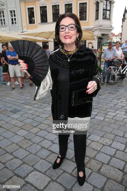 Singer Nana Mouskouri during the European Culture Awards TAURUS 2018 at Dresden Frauenkirche on June 8, 2018 in Dresden, Germany.